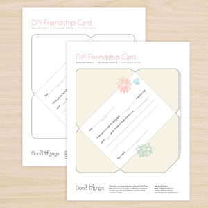 Freebie Friday - DIY Friendship Card