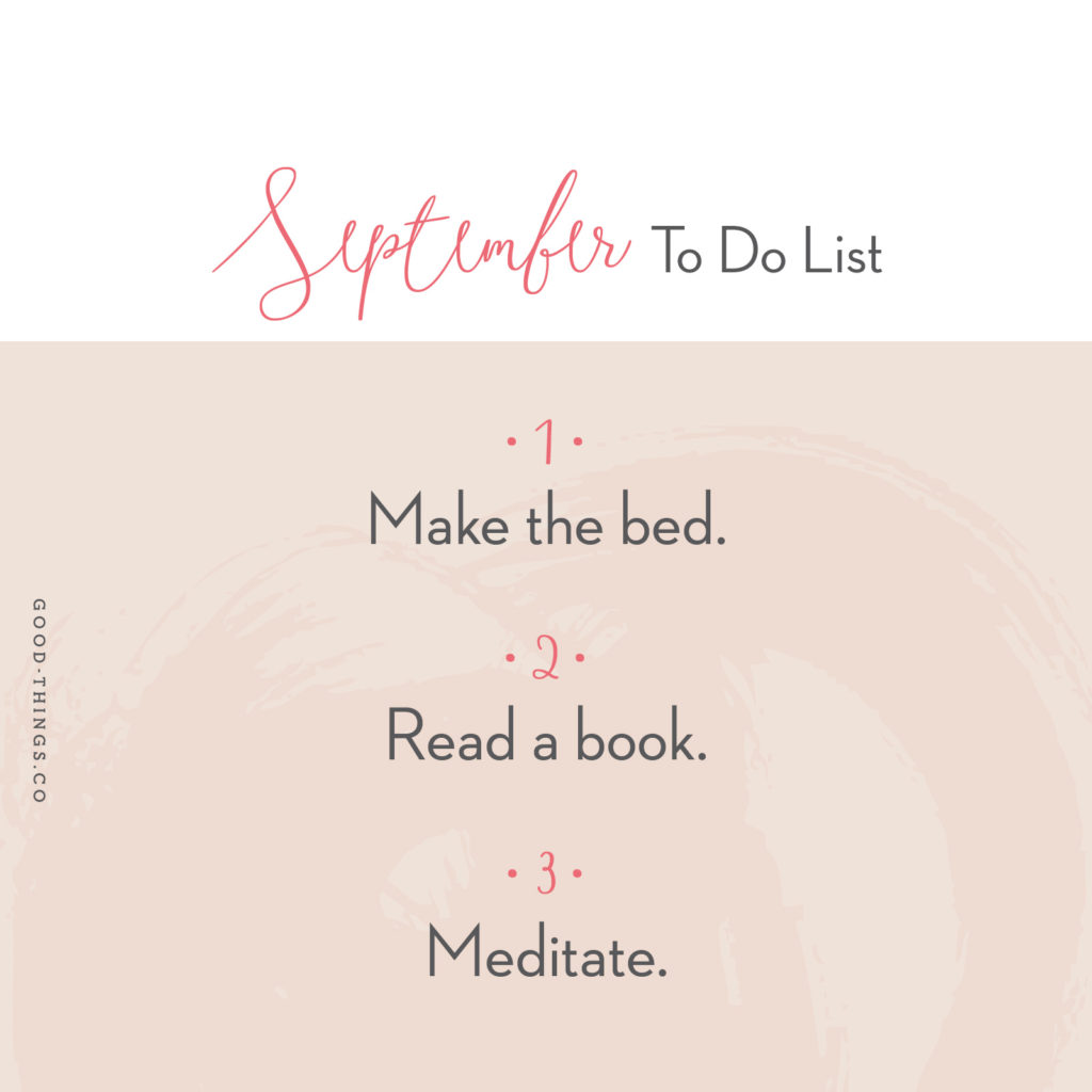 To Do for September 2017